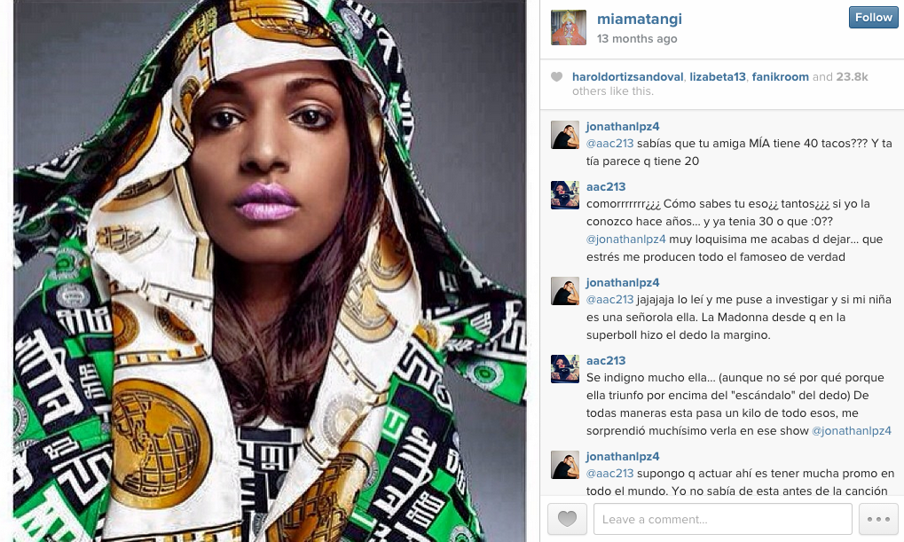 M.I.A on Instagram