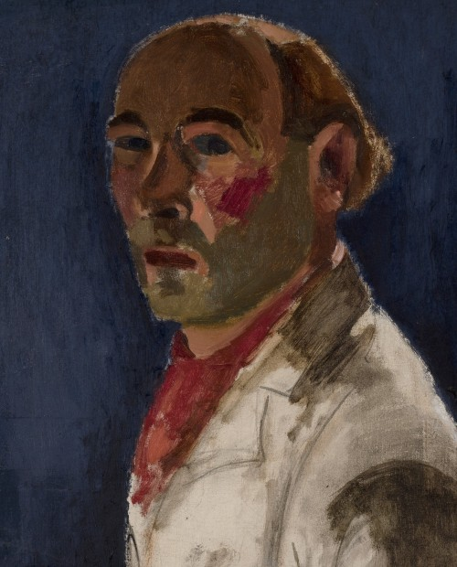 Self Portrait by Josef Herman. With permission from David Herman.